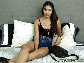 Indian casting beauty rides fat cock