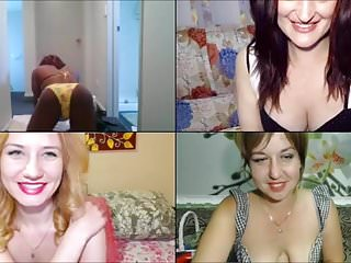 Whipped cream, big cucumber and 3 models laughing
