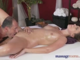 Massage Rooms Hot Russian model has her hole filled with hard cock