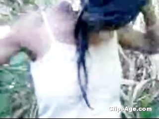 Local Indian desi village whore Sonali getting boobs exposed in field MMS