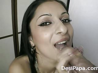indian wife sucking taking cumshot