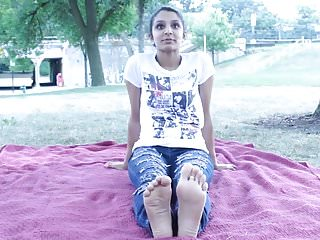 Nia's sweet feet at the park