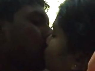 South Indian girl kissing and blowjob bf's cock