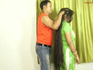 Hair Pulling and Smelling (Compilation) Desi Style – Love Hair Seduction