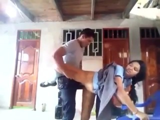 Desi Hot Indian school girl fucking hard in stand position