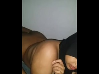 Desi Pakistani girl licking arab cock