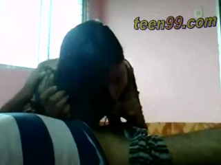 Desi indian Lovers having fun in a village room – teen99*com