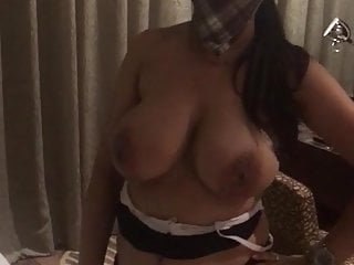 Huge boobs mallu aunty wearing bra