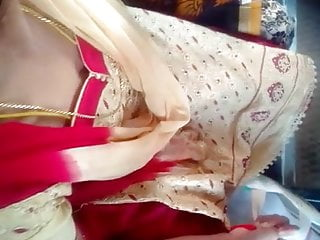 Tamil young married deep cleavage