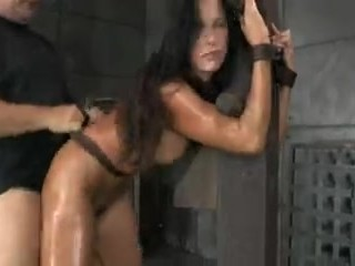 Girl tied up and fucked hard