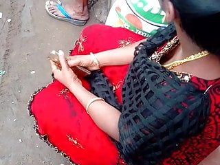 Tamil hot young aunty deep boobs cleavage in public