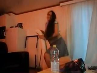 Indian aunty loves playing on webcam