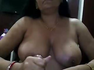 mature lady obeying BOSS giving handjob for promotion