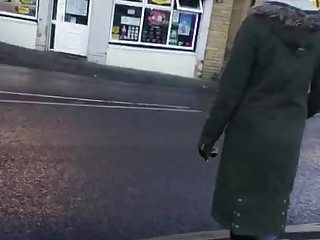 Hijabi ass sticking out from her jacket