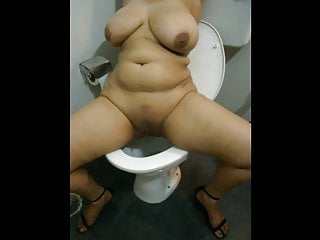 Busty Indian Girl Pissing
